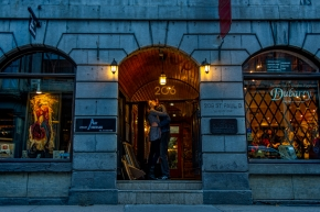 Audrey and John's engagement session in Old Montreal.